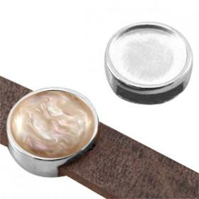 DQ schuiver setting antiek zilver voor 12mm cabochon