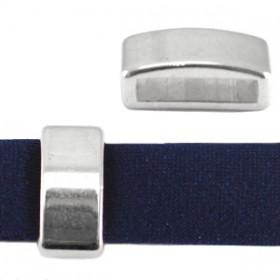 DQ schuiver 12mm (voor leren ring) antiek zilver