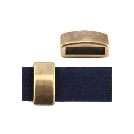 DQ schuiver 12mm (voor leren ring) antiek brons