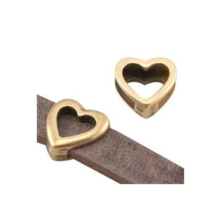DQ metaal schuiver hart Antiek brons