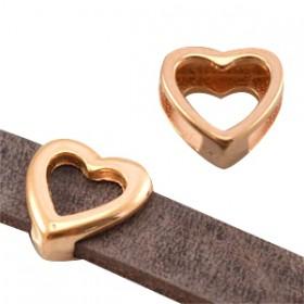 DQ metaal schuiver hart Rosé goud