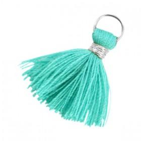 Kwastjes 1.8cm Zilver Emerald groen
