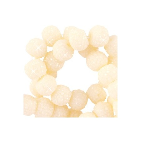 Sparkling beads disc 6mm Ivory yellow