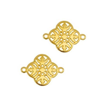 DQ metalen tussenstuk Goud (nikkelvrij)