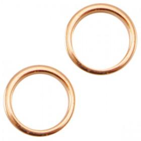 DQ metaal dichte ring 8x1.2mm rosé goud