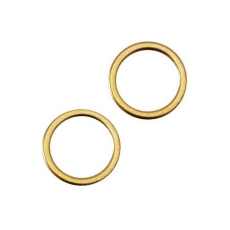 DQ metaal dichte ring 8x1.2mm Goud