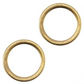 DQ metaal dichte ring 8x1.2mm Antiek brons