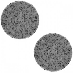 12 mm platte cabochon Polaris Elements Lava Midnight grey