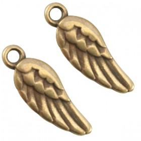 Bedels DQ angel wing Antiek brons (nikkelvrij)