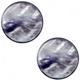 cabochon 7mm Polaris Parelmoer Montana blue