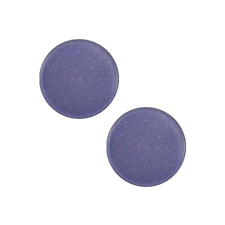 12mm platte cabochon Super Polaris Midnight blue