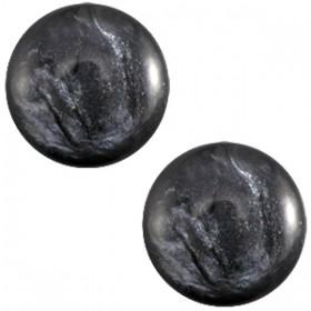 7 mm classic cabochon Jais  Antracite grey
