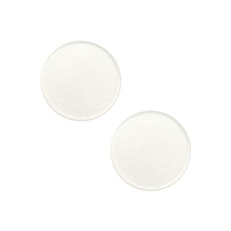 7 mm platte cabochon Super Polaris Antique white