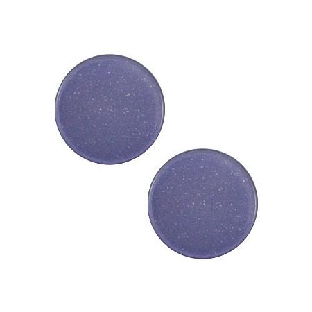 7 mm platte cabochon Super Polaris Midnight blue