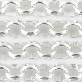 DQ Jasseron rond 3mm  Zilver