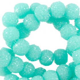 Sparkling beads disc 6mm Turquoise