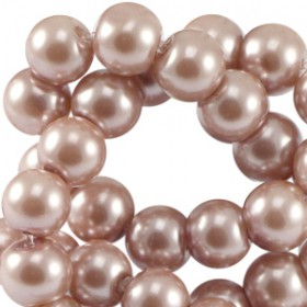 Glaskraal pearl Antique Pink 8mm