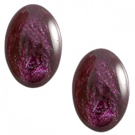 Polaris cabochon ovaal 10x13mm Jais Crown jewel purple