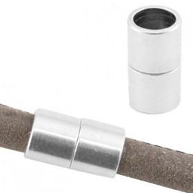 DQ metaal magneetsloten voor 6mm leer Antiek zilver