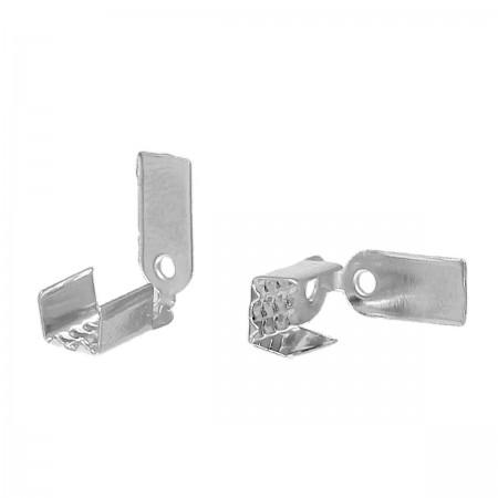 Basic veterklemmetje zilverkleur 9x5mm