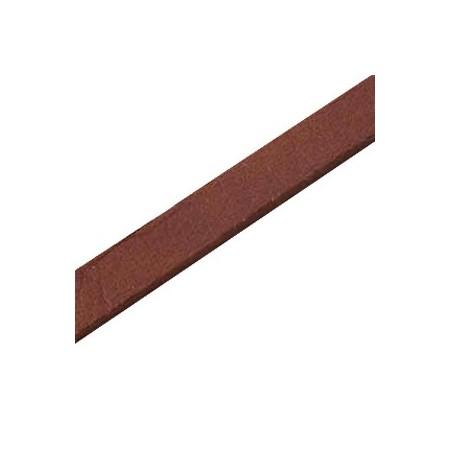 DQ plat nappaleer 10mm Donker bruin