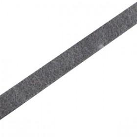 DQ plat leer 5mm Antraciet zwart
