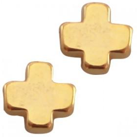 DQ metaal kruisje Goud (nikkelvrij)