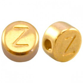 DQ metaal letterkraal Z Goud