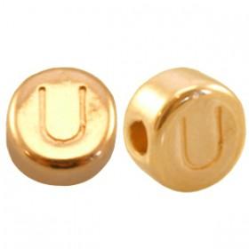 DQ metaal letterkraal U Goud