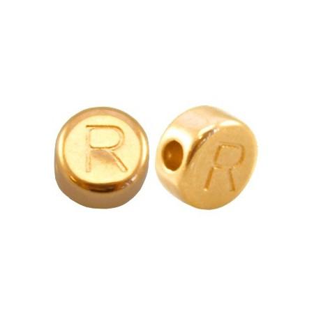 DQ metaal letterkraal R Goud