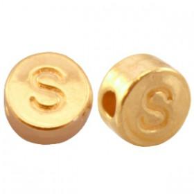 DQ metaal letterkraal S Goud