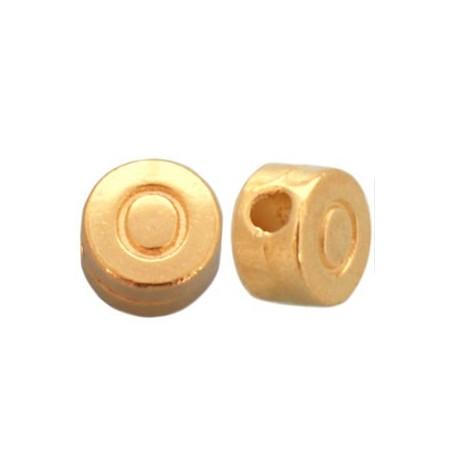 DQ metaal letterkraal O Goud