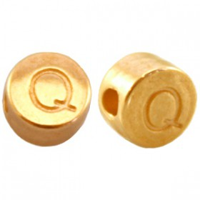 DQ metaal letterkraal Q Goud