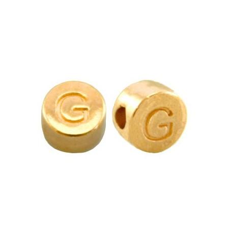 DQ metaal letterkraal G Goud
