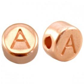 DQ metaal letterkraal A Rosé goud