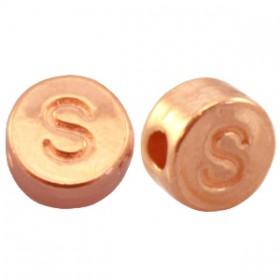 DQ metaal letterkraal S Rosé goud