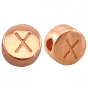 DQ metaal letterkraal X Rosé goud