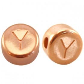 DQ metaal letterkraal Y Rosé goud