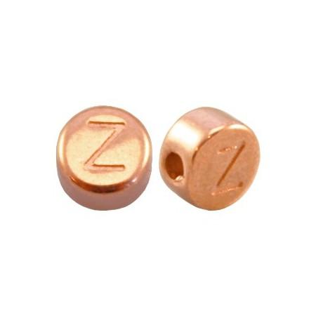 DQ metaal letterkraal Z Rosé goud
