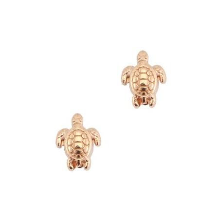 Kralen DQ metaal schildpad Rosé goud (nikkelvrij)