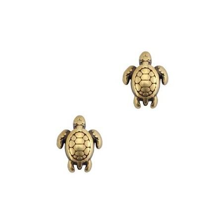 Kralen DQ metaal schildpad Brons (nikkelvrij)