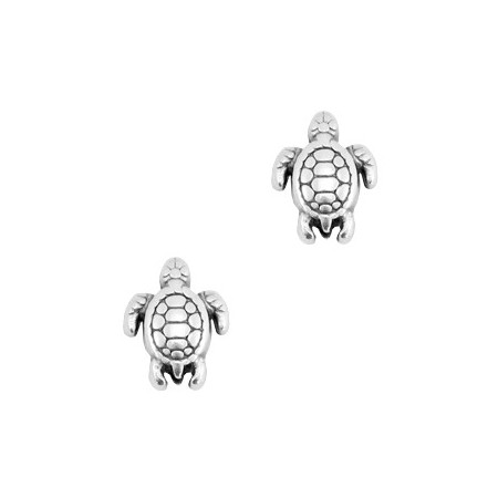 Kralen DQ metaal schildpad Zilver (nikkelvrij)