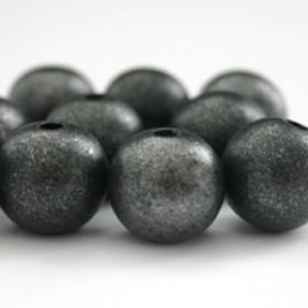 Houten kralen 12mm Ibiza black silver