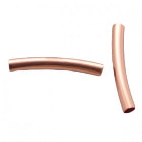 DQ Buisje voor 3mm leer rosé goud