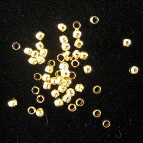 Knijpkraaltjes 2mm goud