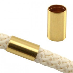 DQ metaal tube voor 5 mm koord Goud