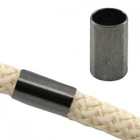 DQ metaal tube voor 5 mm koord Antraciet