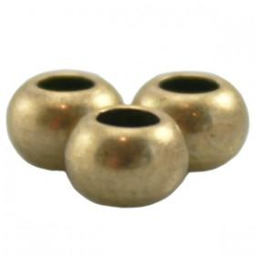 DQ metaal ball 6 x 4 mm Antiek brons ( nikkelvrij )