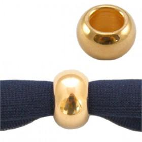 DQ metaal ball 9 x 5 mm Goud ( nikkelvrij )