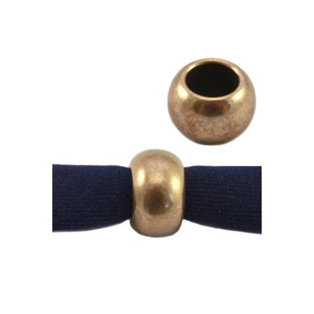 DQ metaal ball 9 x 5 mm Antiek brons ( nikkelvrij )
